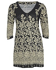Samya Floral Print 3/4 Sleeve Dress