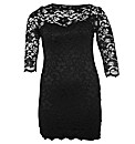 John Zack Boat Neck Lace Dress