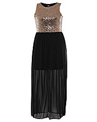 John Zack Sequin Top Maxi Dress