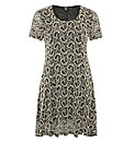 Samya Paisley Textured Shift Dress