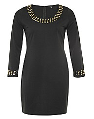 Samya Studded Detail Bodycon Dress