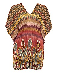 Samya Tribal Print Tunic Top