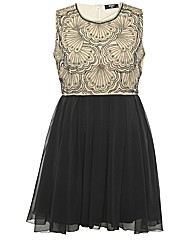 Koko Sequin Contrast Dress