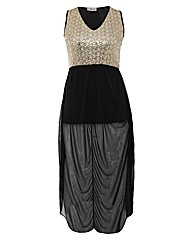 Praslin Sequin High Low Dress