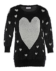 Praslin Big Heart Fluffy Jumper
