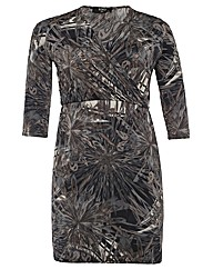 Koko Multi Print Wrap Dress