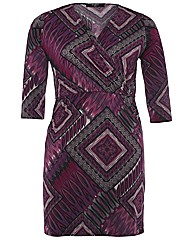 Koko Diamond Print Wrap Dress