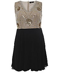 Koko Sequin Embellished Contrast Dress