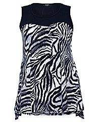 Koko Animal Print Sleeveless Tunic