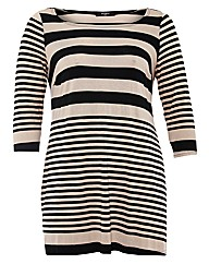 Koko 3/4 Sleeve Striped Tunic