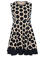 Praslin Flocked Spot Print Dress