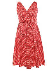 Praslin Spot Print Cotton Swing Dress