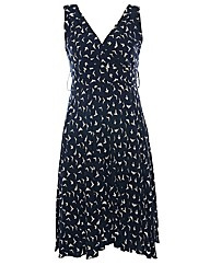 Praslin Swallow Bird Print Swing Dress