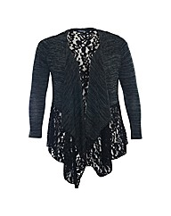 Samya Lace Detail Waterfall Cardigan