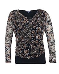 Samya Floral Lace Panel Top