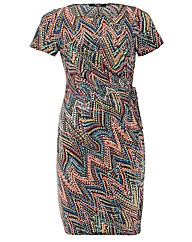 Koko Zig Zag Print Dress