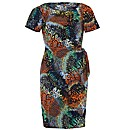 Koko Abstract Print Ruched dress