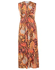 Threads Printed Plait Front Maxi Dress