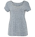 Threads Twist Back Knitted Necklace Tee