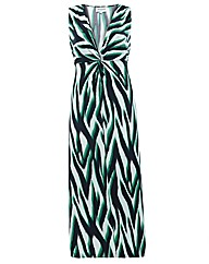 Threads Print Twisted Maxi Dress
