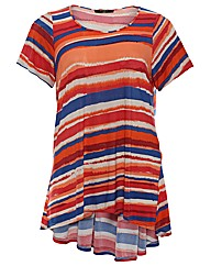 Koko Striped Dip Hem Tunic