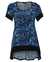 Koko Asymmetric Hem Jungle Print Tunic
