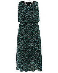 Koko PU Trim Animal Print Maxi