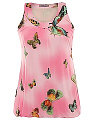 Praslin Butterfly Print Top