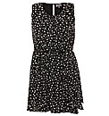 Praslin Spot Print Frill Front Dress