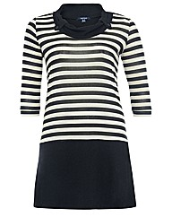 Samya Stripe Contrast Tunic Dress