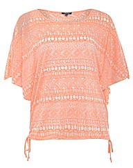 Samya Aztec Printed Oversized Top