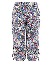 Samya Paisley Printed Cropped Trousers