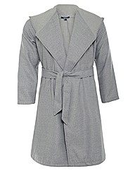 Samya Tie Front Hooded Coat
