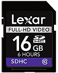 Lexar 16Gb SDHC Full HD Video Card