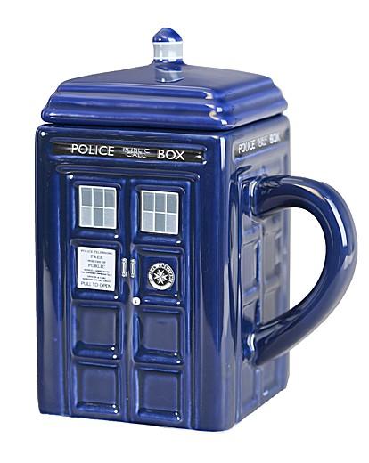 Image of Doctor Who Tardis Ceramic Mug With Lid