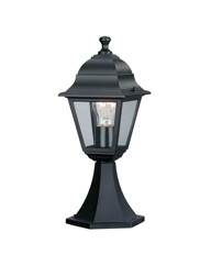 Venizio Black Outdoor Light Pedestal