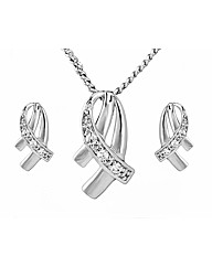 Espree Crystal Pendant and Earring Set