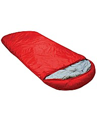 The Big Sleep Red Hooded Sleeping Bag