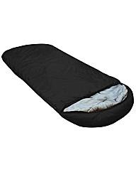 The Big Sleep Black Hooded Sleeping Bag