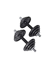 Pro Power 20kg Cast Dumbbell Set