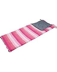 Pink Stripe 300GSM Single Sleeping Bag
