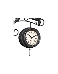 Bird Feeder Clock and Thermometer