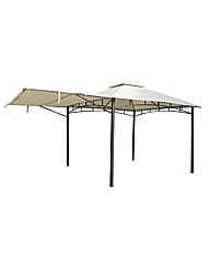 3.3x3.3m Gazebo With Awning Ecru