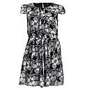 Koko Multi Print Pleat Detail Dress