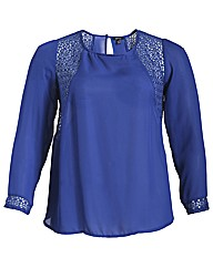 Samya Long Sheer Sleeve Detailed Top