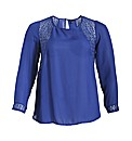 Samya Long Sheer Sleeve Detailed Top
