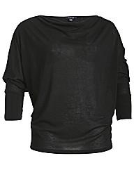 Samya Shoulder Zip Batwing Long Sleeve T