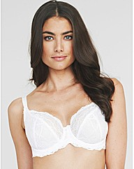 Just Peachy Lace Non Padded Balcony Bra