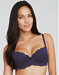 Just Peachy Lace Padded Balconette Bra