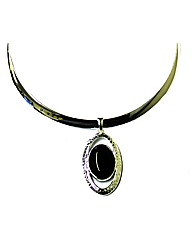 Necklace With Black Stone